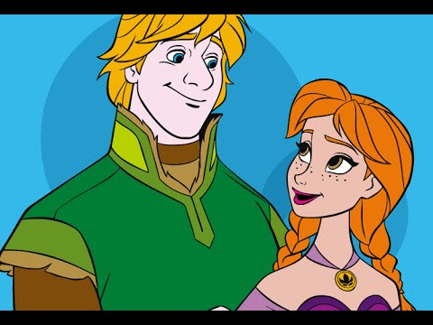 Anna And Kristoff Frozen Coloring