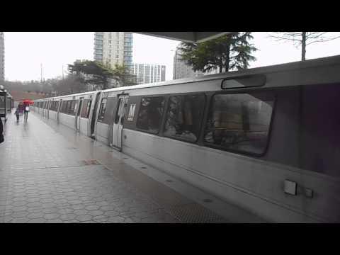 WMATA Metrorail: Shady Grove bound Red line train depart White Flint