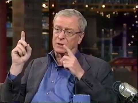MICHAEL CAINE ON DAVID LETTERMAN SHOW - TALKS ABOUT JACK NICHOLSON & PETER O'TOOLE, 1998