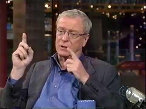 MICHAEL CAINE ON DAVID LETTERMAN SHOW - TALKS ABOUT JACK NICHOLSON & PETER O'TOOLE, 1998