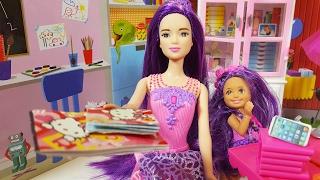 Haylaz Barbie Purple Makyaj Yapıyor Ders Çalışmıyor | Barbie Türkçe izle