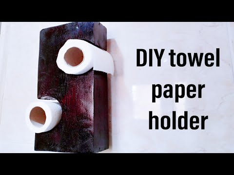 DIY towel paper holder | Woodworking projects