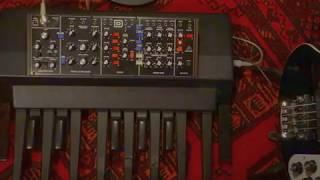 Behringer Model D + Ketron K8 pedal = Taurus