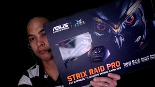 aSUS STRIX Pro Raid 7.1 Gaming Sound Card Set (Unboxing, Testing and Reviewing)