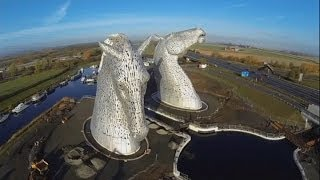 The Kelpies: Two giant horse head sculptures unveiled in Scotland