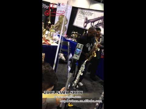 Saxophone,Musical Instrument on 2013 NAMM SHOW - Aileen Music Instrument Supplier.mp4