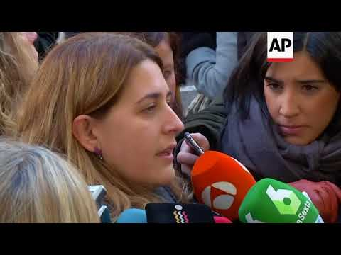 Catalan separatists in court arguing for their release