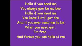 Trey Songz-Holla If You Need Me(Lyrics)