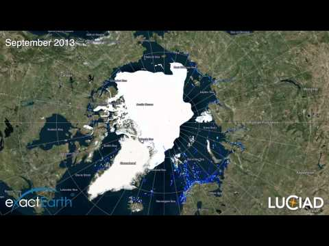 exactEarth Arctic Shipping Coverage