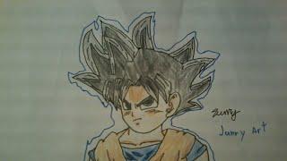 Drawing Ultra Instinct Kid Goku Full Body (Best Drawing Part 1)