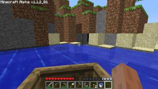Minecraft How to Make a Fishing Pole and Boat