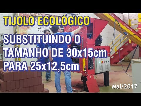 Mudando de Tijolo Ecológico 30x15cm para 25x12,5cm na Eco Premium Double Automática