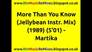 More Than You Know (Jellybean Instr. Mix) - Martika | 80s Club Mixes | 80s Club Music | 80s Dance