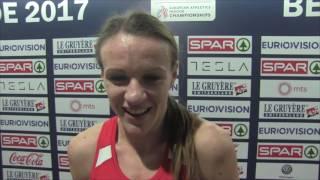 Simona Vrzalová po rozběhu na 1500 m