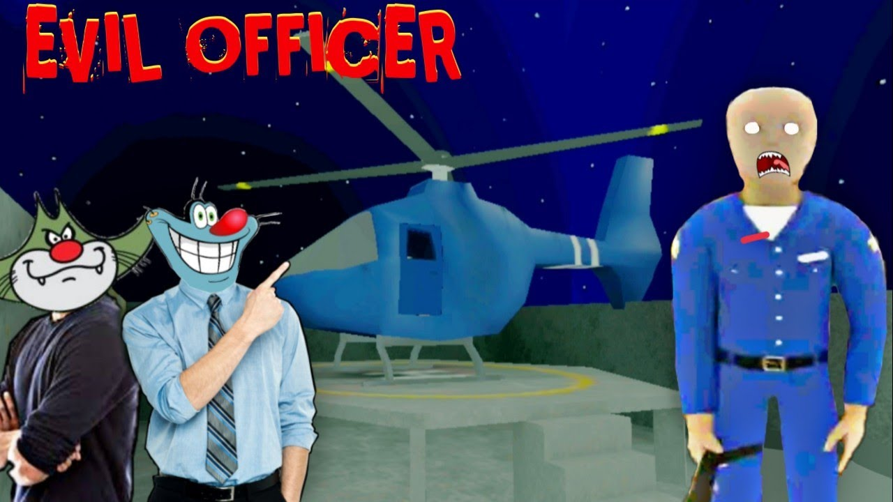 HELICOPTER ESCAPE | EVIL OFFICER Full gameplay with Oggy and Jack #1