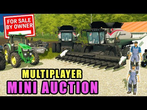 WE NEED MORE FARM EQUIPMENT! ANOTHER MINI AUCTION FOR THE TOURNAMENT | FARMING SIMULATOR 2017