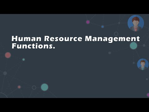 Human Resource Management Functions