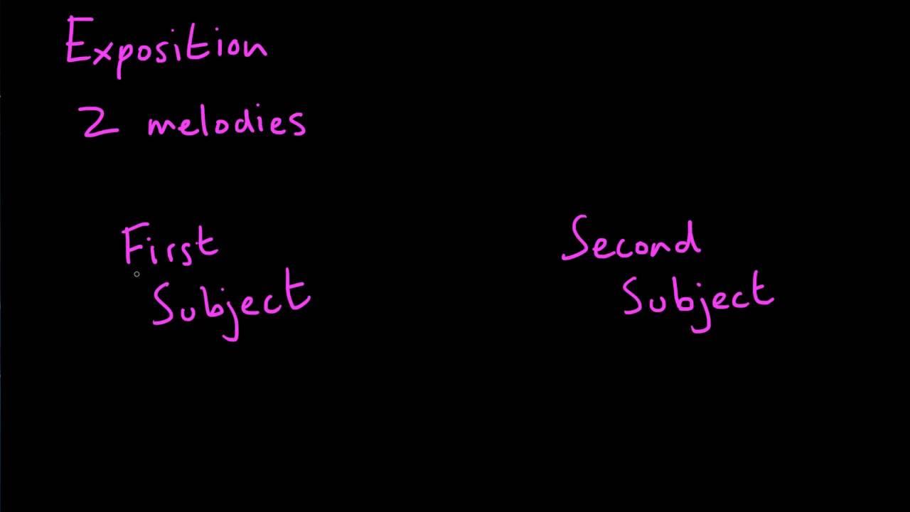 medium resolution of sonata form the exposition