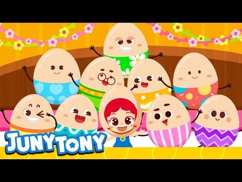 ten-in-a-bed-|-surprise-eggs-|-kids-easter-song-|-best-kids-song-|-junytony