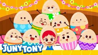 Ten in a Bed   Surprise Eggs   Kids Easter Song   Best Kids Song   JunyTony