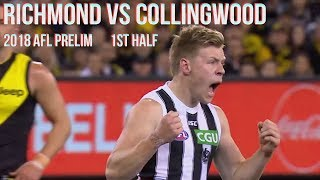 Richmond vs Collingwood Preliminary final 2018 All the goals, behinds & highlights 1stHALF