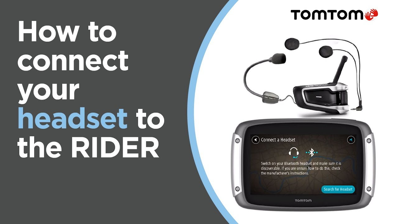 How to connect your headset to the Rider
