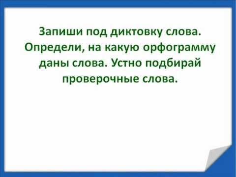 Русский язык класс неделя Контрольный диктант по теме Предлог Словарный диктант № 7 wmv