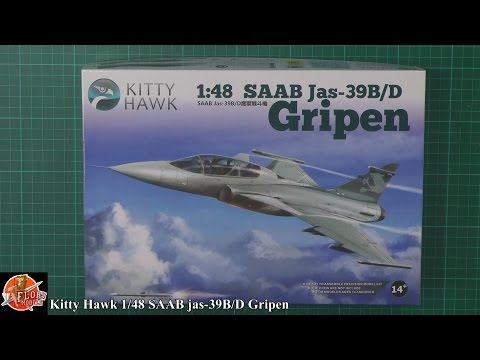 Kitty Hawk 1/48 jas-39 B/D Gripen Review
