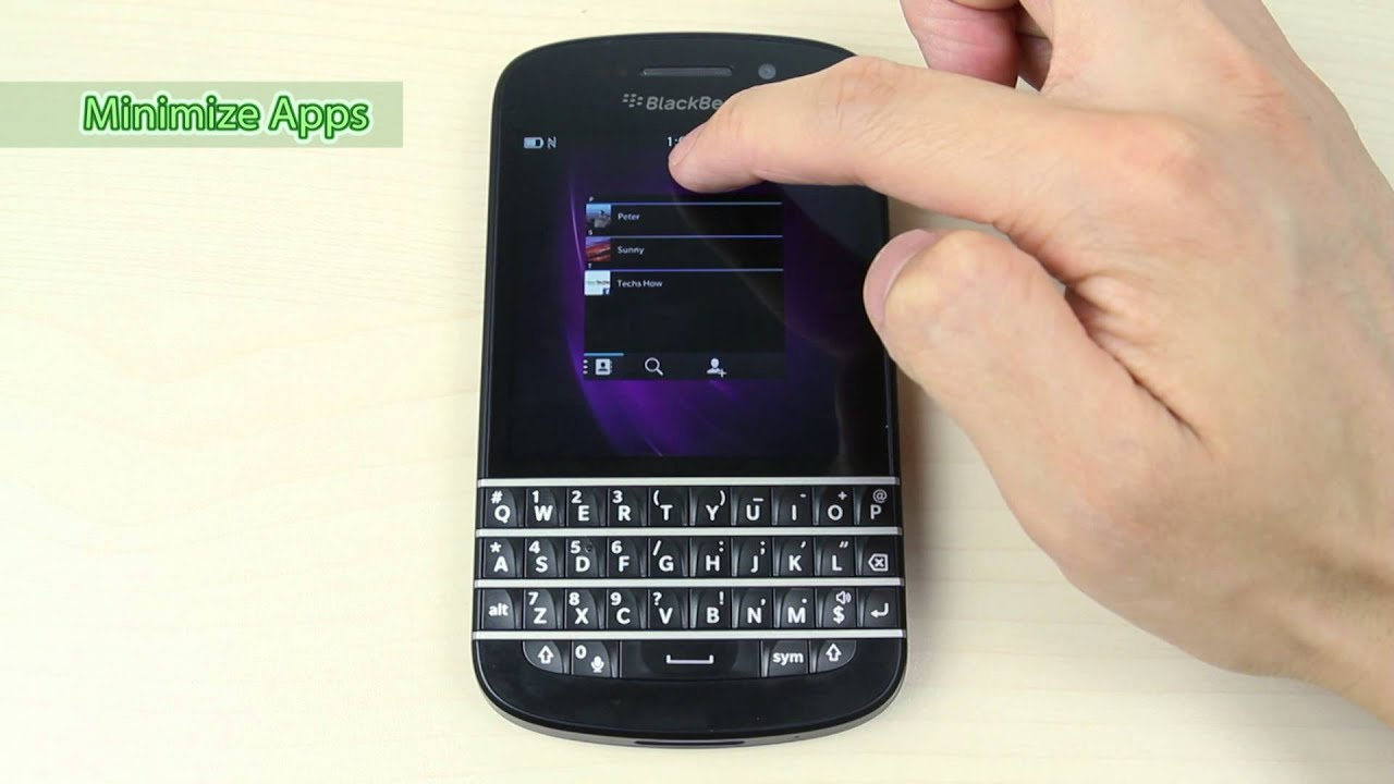 Blackberry Q10 Libre Special Feature Of Blackberry Q10 Gesture Controls