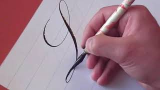How to Write Copperplate (The Letters L and l)