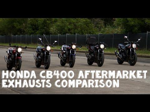 Honda CB400 AfterMarket Exhaust Comparison