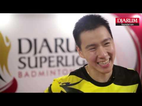 Marcus Fernaldi Gideon at Player's Lounge Djarum Superliga Badminton 2017
