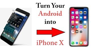 Turn Your Android Phone into iphone X -  Hindi