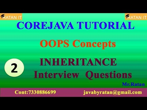 Core Java Tutorial || OOPS Concepts || Video-2 || INHERITANCE || Interview Questions || By Ratan Sir