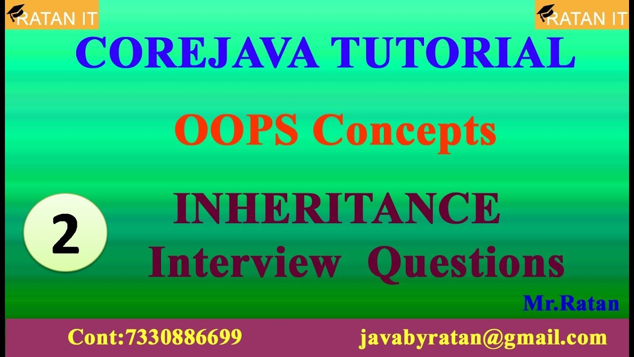 Core java Tutorial || OOPS Concepts || Video-2