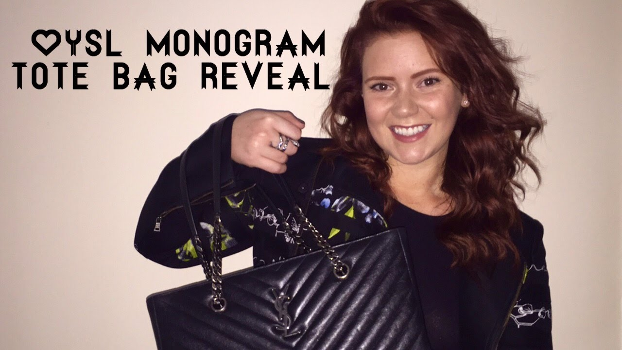 34c787c53bc7 YSL Saint Laurent Monogram Matelassé Tote Bag Reveal - YouTube