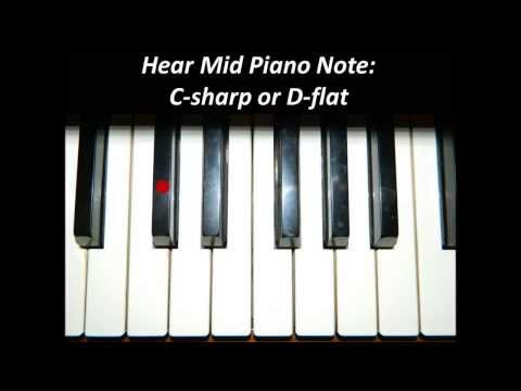 Hear Piano Note - Mid C Sharp or D Flat