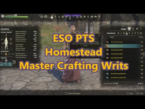Eso Homestead Crafting Style