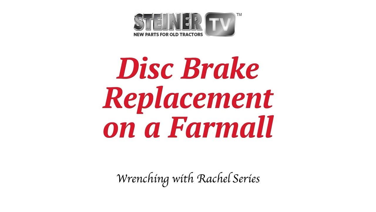 disc brake replacement on a farmall Farmall M Brake Seals