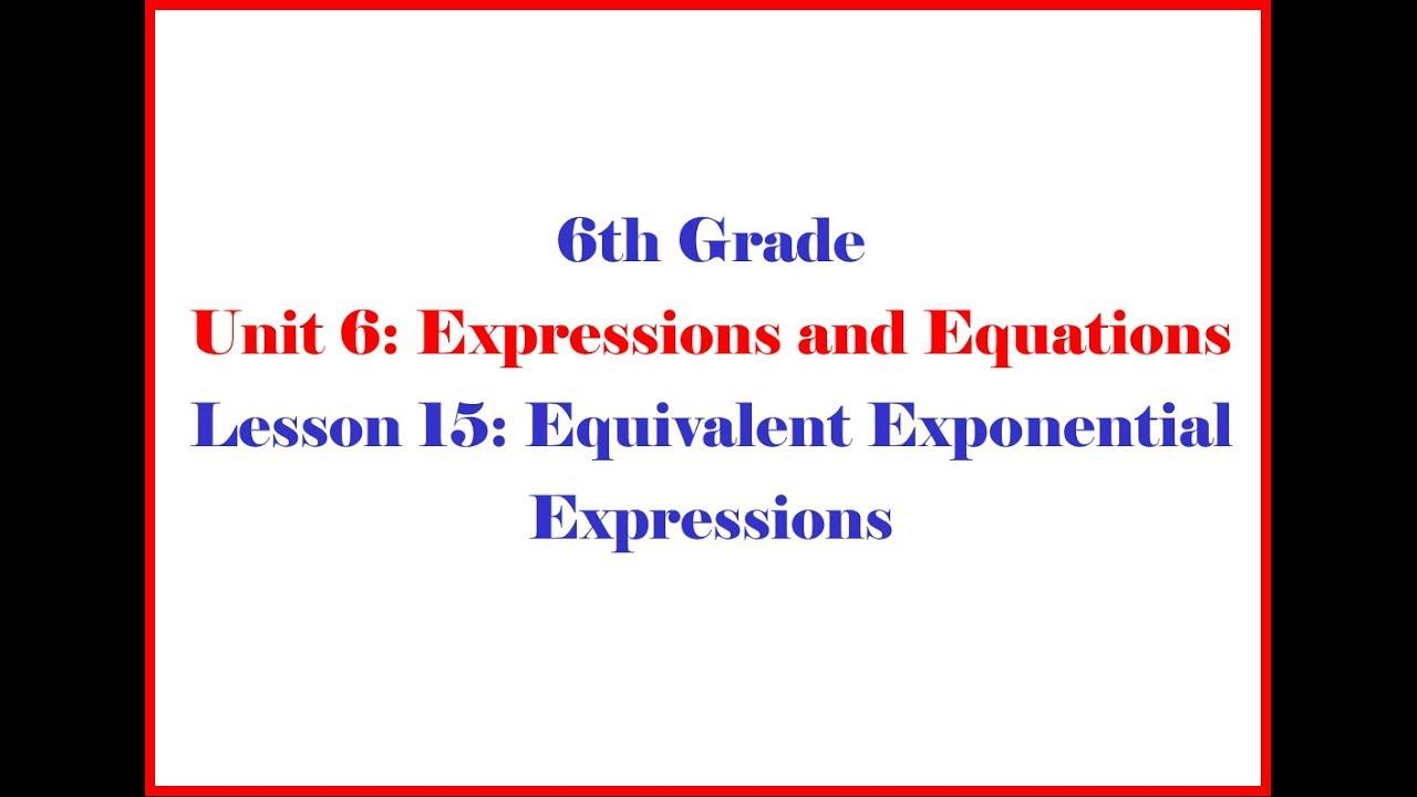 medium resolution of Equivalent Exponential Expressions