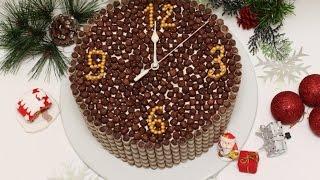 """Рецепт на Новый Год 2016 Торт """"Новогодние часы"""""""
