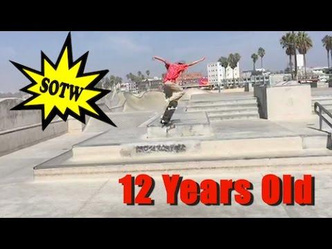 12 Year Old 360 Kickflip