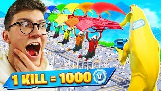 1 KILL - 1000 Free V-BUCKS on Fortnite CHALLENGE!