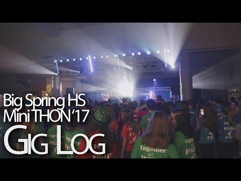 Big Spring High School Mini THON 2017 DJ Gig Log