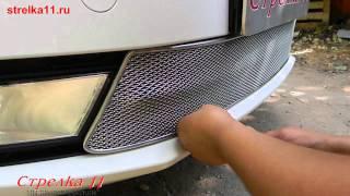 Защита радиатора Premium для SKODA OCTAVIA A7 Elegance (Хром) - strelka11.ru