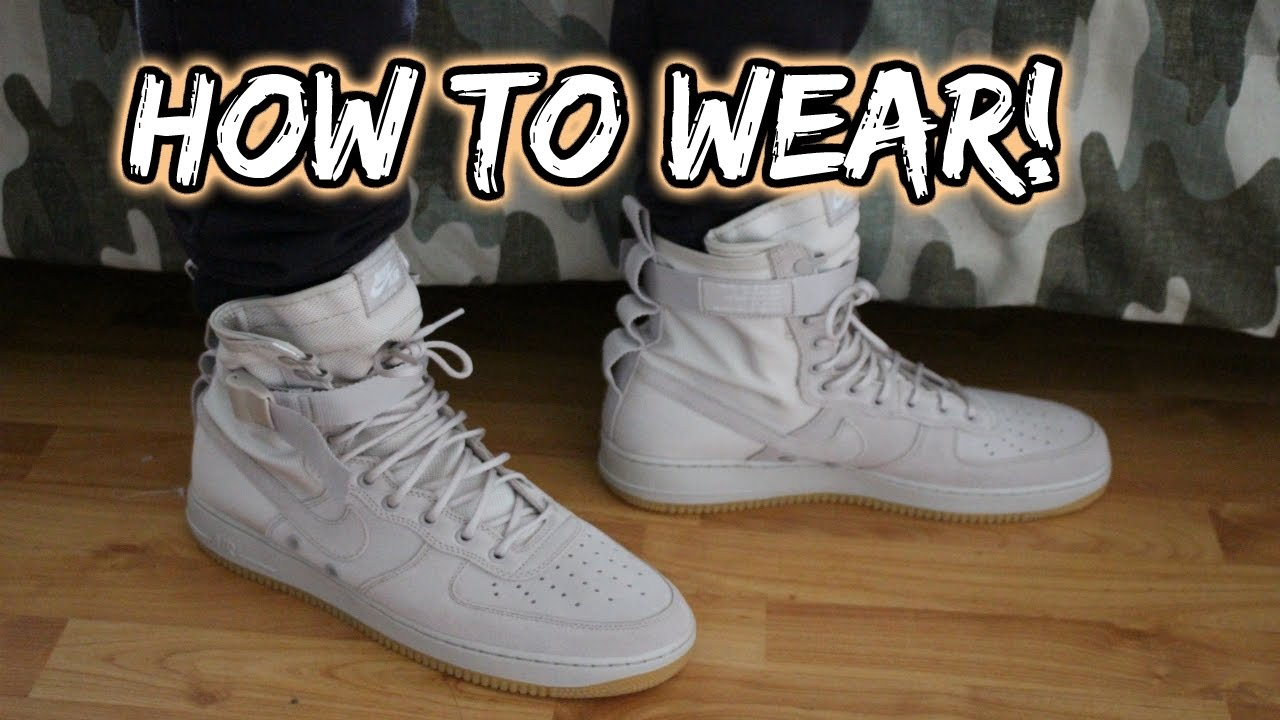 how to wear nike air force 1 sf on feet