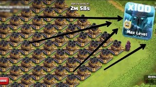 FULL Multi Mortar BASE vs 100 Super PEKKA |! Who wins ! | CLASH OF CLANS.