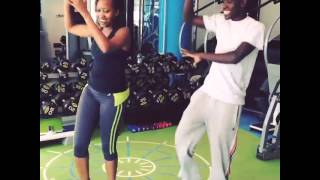 Janet Mbugua Shows her Moves in an Aerobic Session