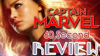 Captain Marvel 60 Second Review (NO Spoilers) | CinemaWins