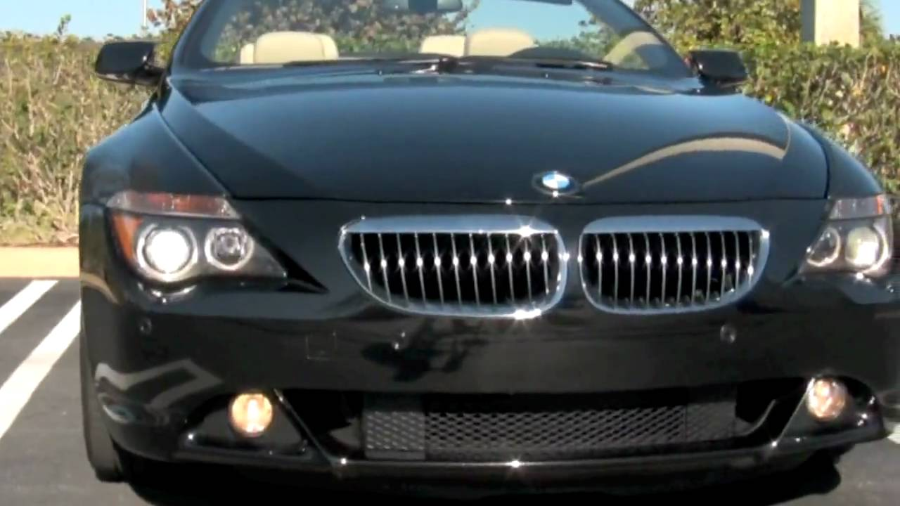 2007 BMW 650i Convertible Black A2455  YouTube